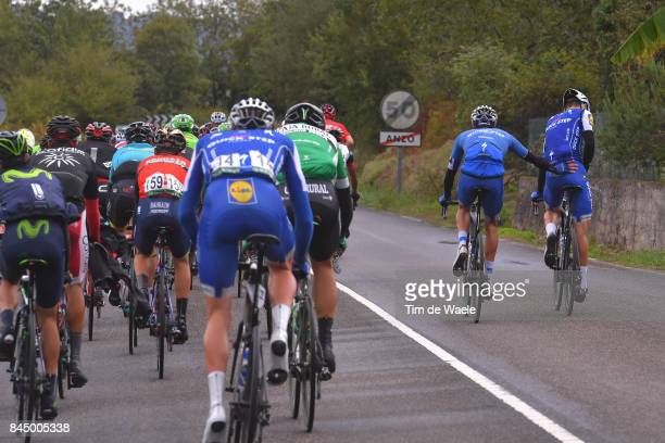72nd Tour of Spain 2017 / Stage 20 Julian ALAPHILIPPE / Sanitair Stop Pipi Toilet WC / Team QuickStep Floors / Corvera de Asturias Alto de L'Angliru...