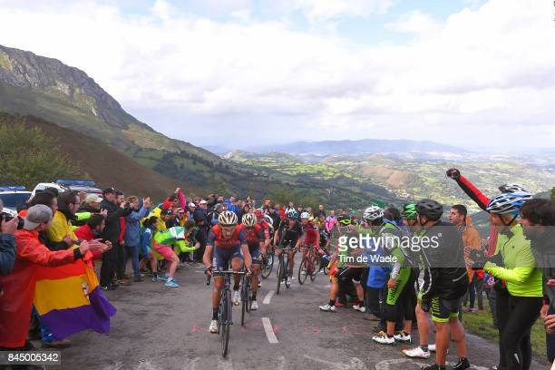 72nd Tour of Spain 2017 / Stage 20 Landscape / Franco PELLIZOTTI / Vincenzo NIBALI / Ilnur ZAKARIN / Wout POELS / Mountains / Alto de L'Angliru /...