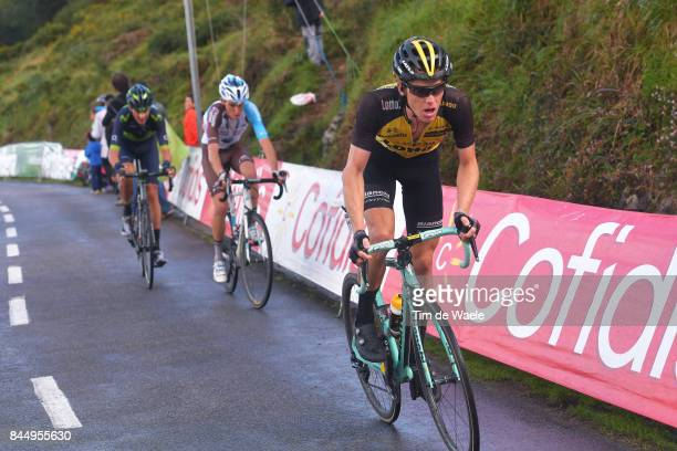 72nd Tour of Spain 2017 / Stage 20 Steven KRUIJSWIJK / Romain BARDET / Marc SOLER / Corvera de Asturias Alto de L'Angliru 1560m / La Vuelta /