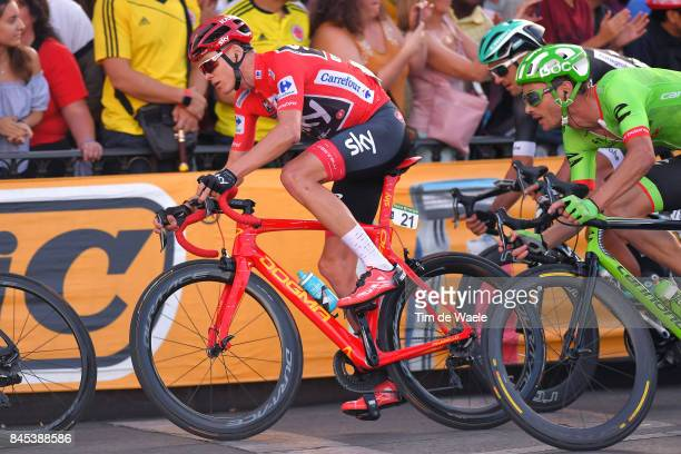 72nd Tour of Spain 2017 / Stage 21 Christopher FROOME Red Leader Jersey Celebration / Trophy / 104th Tour de France 2017 72nd Tour of Spain 2017...