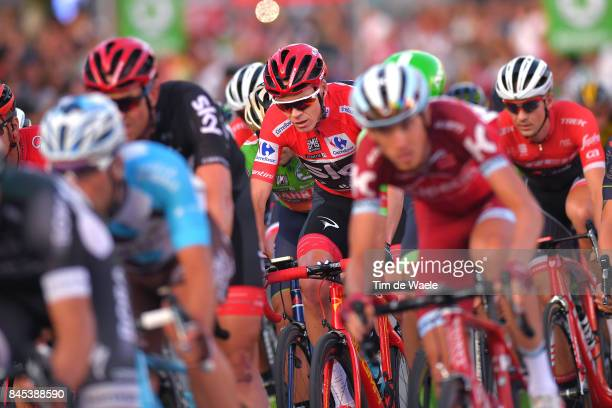 72nd Tour of Spain 2017 / Stage 21 Christopher FROOME Red Leader Jersey / Peloton / Arroyomolinos Madrid / La Vuelta /