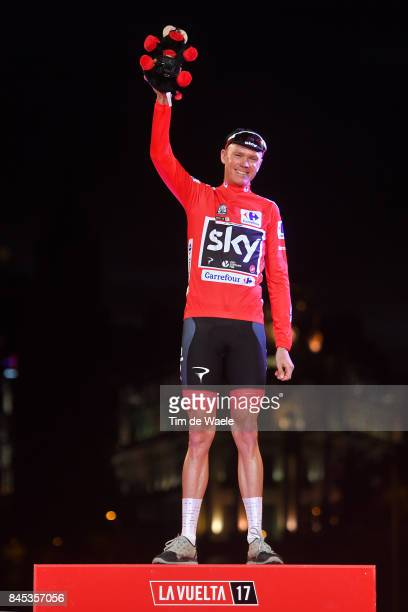 72nd Tour of Spain 2017 / Stage 21 Podium / Christopher FROOME Red Leader Jersey Celebration / Arroyomolinos Madrid / La Vuelta /