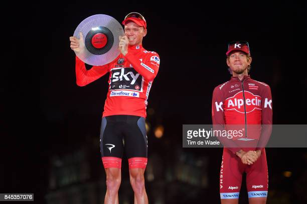 72nd Tour of Spain 2017 / Stage 21 Podium / Christopher FROOME Red Leader Jersey Celebration / Trophy / Ilnur ZAKARIN / Arroyomolinos Madrid / La...