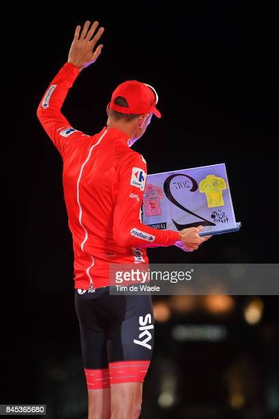 72nd Tour of Spain 2017 / Stage 21 Podium / Christopher FROOME Red Leader Jersey Celebration / Trophy / 104th Tour de France 2017 72nd Tour of Spain...