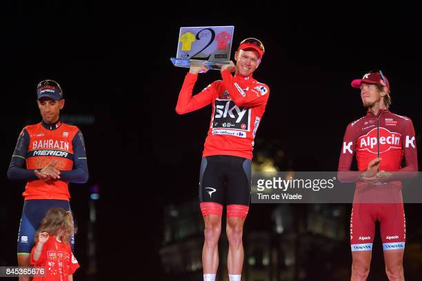 72nd Tour of Spain 2017 / Stage 21 Podium / Vincenzo NIBALI / Christopher FROOME Red Leader Jersey Trophy 104th Tour de France 2017 72nd Tour of...