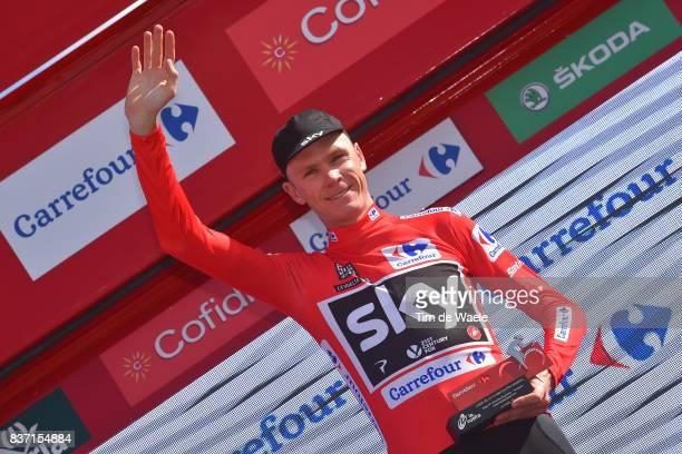 72nd Tour of Spain 2017 / Stage 4 Arrival / Christopher FROOME Red Leader Jersey Celebration / EscaldesEngordany Tarragona Anella Mediterranea 2018 /...