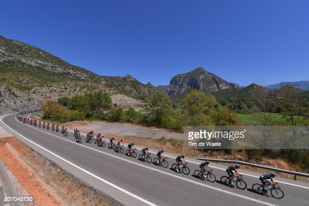 72nd Tour of Spain 2017 / Stage 4 Christopher FROOME Red Leader Jersey / Christian KNEES / Salvatore PUCCIO / David LOPEZ / Gianni MOSCON / Mikel...