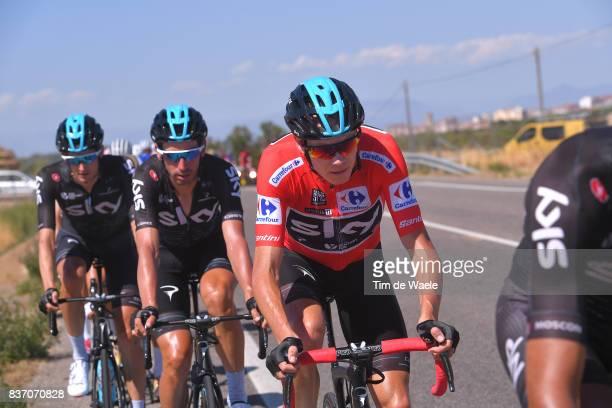 72nd Tour of Spain 2017 / Stage 4 Christopher FROOME Red Leader Jersey / David LOPEZ / EscaldesEngordany Tarragona Anella Mediterranea 2018 / La...