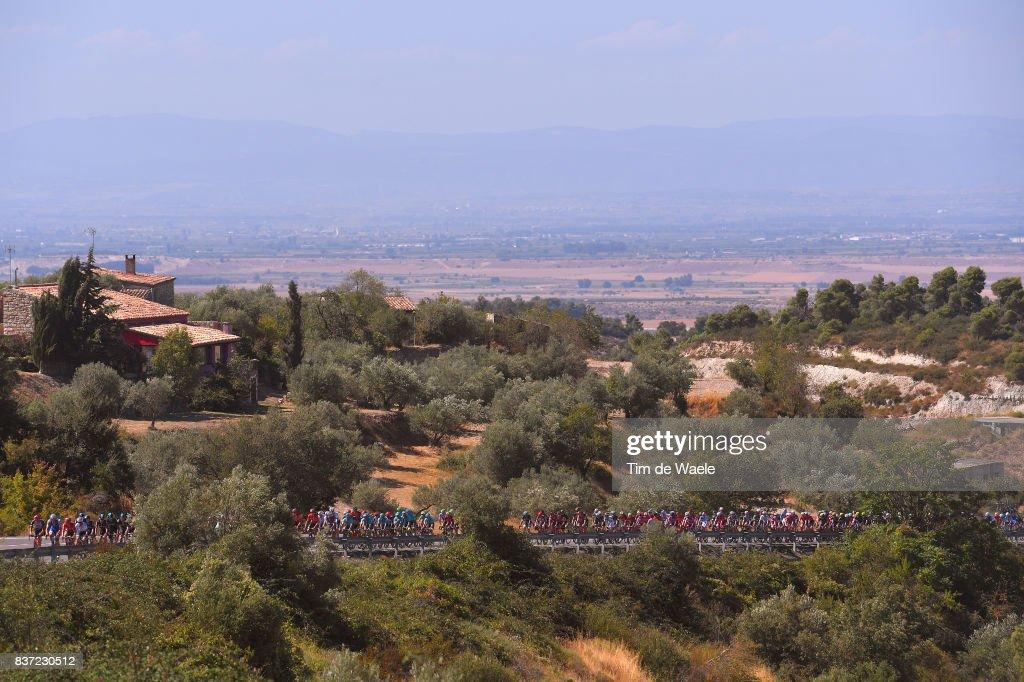 72nd Tour of Spain 2017 / Stage 4 Peloton / Alto de Belltall (790m) Mountains / Landscape / Escaldes-Engordany - Tarragona Anella Mediterranea 2018 (198,2km)/ La Vuelta /