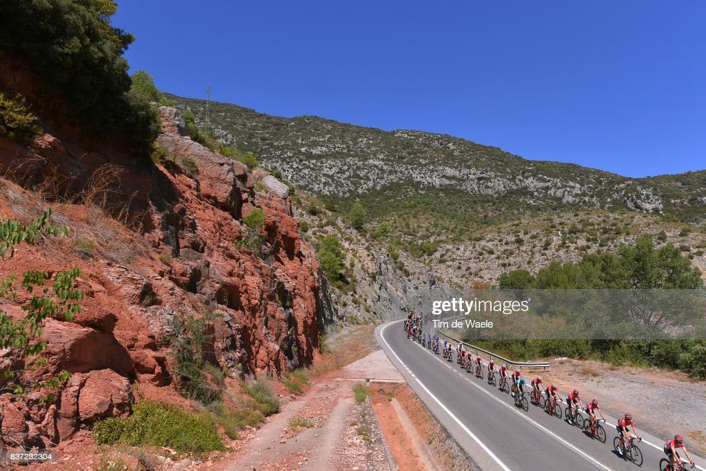72nd Tour of Spain 2017 / Stage 4 Peloton / Mountains / Landscape / Escaldes-Engordany - Tarragona Anella Mediterranea 2018 (198,2km)/ La Vuelta /