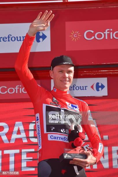 72nd Tour of Spain 2017 / Stage 4 Podium / Christopher FROOME / Red Leader Jersey / Celebration / EscaldesEngordany Tarragona Anella Mediterranea...