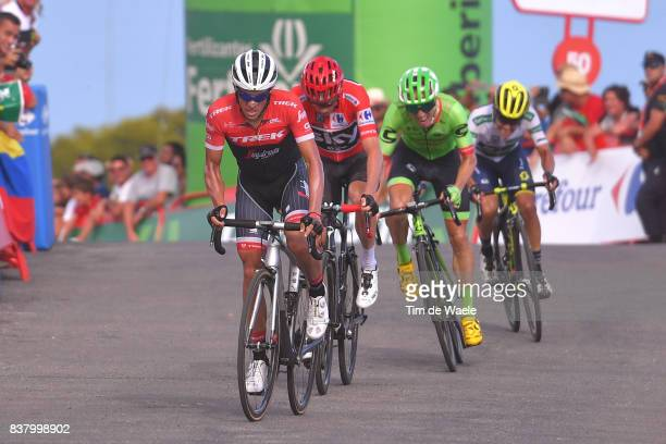 72nd Tour of Spain 2017 / Stage 5 Arrival / Alberto CONTADOR / Christopher FROOME Red Leader Jersey / Michael WOODS / Johan Esteban CHAVES White...
