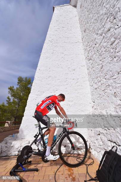 72nd Tour of Spain 2017 / Stage 5 Arrival / Christopher FROOME Red Leader Jersey / Cooling Down / Rollers / Benicassim Alcossebre 340m / La Vuelta /