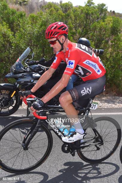 72nd Tour of Spain 2017 / Stage 5 Christopher FROOME Red Leader Jersey / Benicassim Alcossebre 340m / La Vuelta /