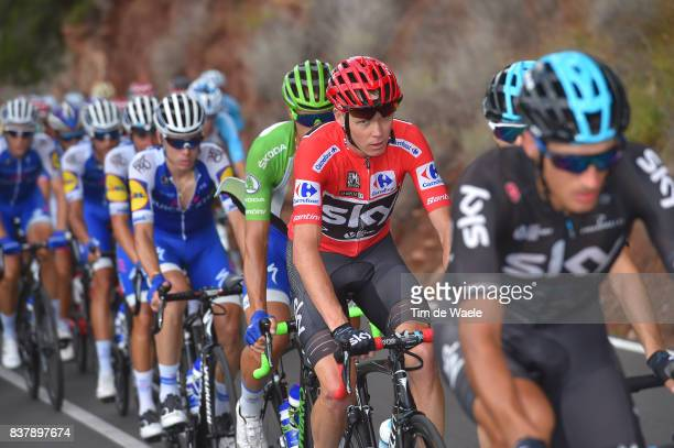 72nd Tour of Spain 2017 / Stage 5 Christopher FROOME Red Leader Jersey /Benicassim Alcossebre 340m / La Vuelta /