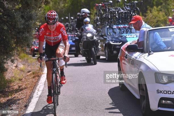 72nd Tour of Spain 2017 / Stage 5 Jelle WALLAYS / Crash / Injury / Doctor / Car / Benicassim Alcossebre 340m / La Vuelta /