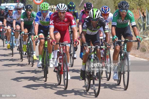 72nd Tour of Spain 2017 / Stage 5 Marco HALLER / Merhawi KUDUS / Hector SAEZ / Davide VILLELLA Polka Dot Mountain Jersey / Benicassim Alcossebre 340m...