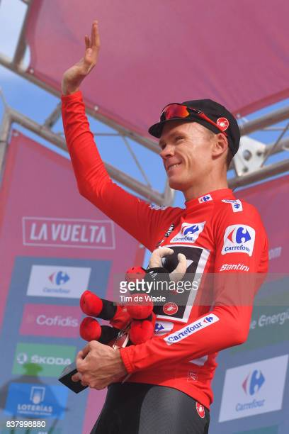 72nd Tour of Spain 2017 / Stage 5 Podium / Christopher FROOME Red Leader Jersey / Celebration / Benicassim Alcossebre 340m / La Vuelta /