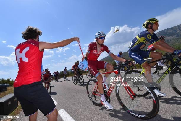 72nd Tour of Spain 2017 / Stage 5 Rein TAARAMAE / Ricardo SOUSA / Soigneur / Team Katusha Alpecin / Feed Zone / Benicassim Alcossebre 340m / La...