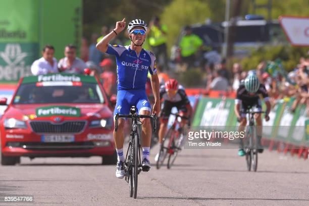 72nd Tour of Spain 2017 / Stage 8 Arrival / Julian ALAPHILIPPE Celebration / Jan POLANC / Rafal MAJKA / Hellin Xorret de Cati Costa Blanca Interior...