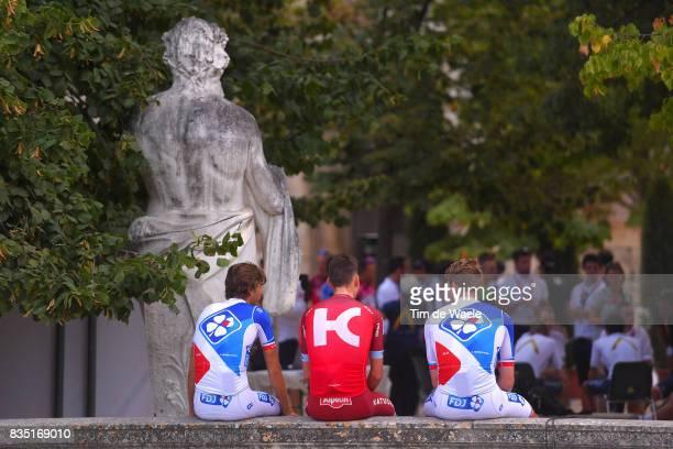 72nd Tour of Spain 2017 / Team Presentation Illustration / Team FDJ / Team KatushaAlpecin / Team Presentation / Jardins de la Fontaine / Nimes / La...