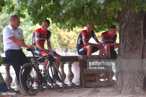 72nd Tour of Spain 2017 / Team Presentation Loic VLIEGEN / Tejay VAN GARDEREN / Rohan DENNIS / Team Presentation / Jardins de la Fontaine / Nimes /...