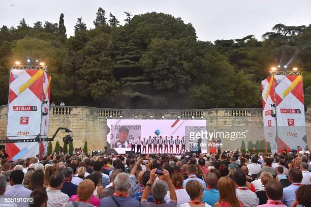 72nd Tour of Spain 2017 / Team Presentation Team AG2R La Mondiale / Romain BARDET / Clement CHEVRIER / Nico DENZ / Axel DOMONT / Julien DUVAL /...
