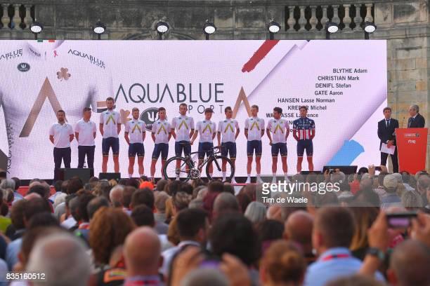 72nd Tour of Spain 2017 / Team Presentation Team Aqua Blue Sport / Adam BLYTHE / 202qStefan DENIFL / Aaron GATE / Lasse Norman HANSEN / Michel KREDER...