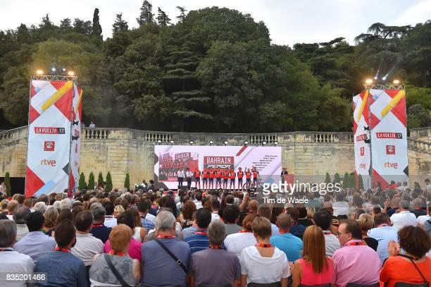 72nd Tour of Spain 2017 / Team Presentation Team Bahrain Merida Pro Cycling Team / Vincenzo NIBALI / Valerio AGNOLI / Manuele BOARO / Ivan GARCIA...