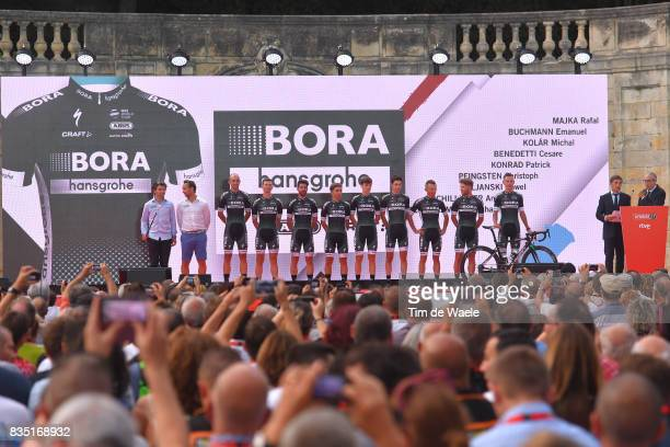 72nd Tour of Spain 2017 / Team Presentation Team BORA hansgrohe / Rafal MAJKA / Emanuel BUCHMANN / Michael KOLAR / Cesare BENEDETTI / Cesare...