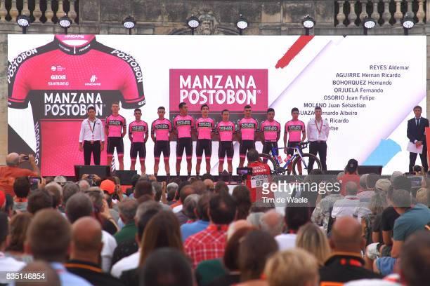 72nd Tour of Spain 2017 / Team Presentation Team Manzana Postobon / Aldemar REYES / Hernan AGUIRRE / Hernando BOHIRQUEZ / Fernando ORJUELA / Juan...