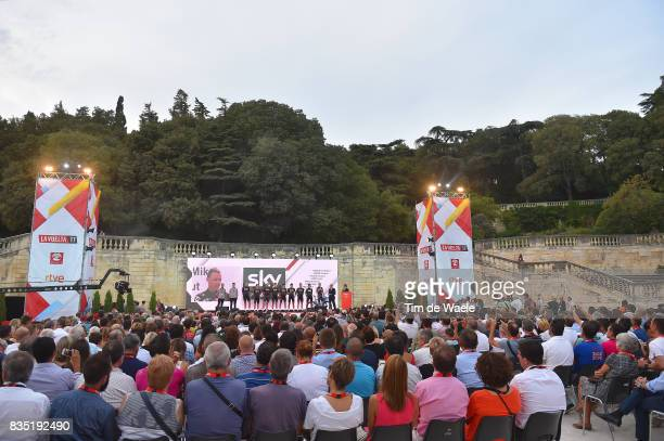 72nd Tour of Spain 2017 / Team Presentation Team SKY / Christopher FROOME / Christian KNEES / Salvatore PUCCIO / David LOPEZ / Gianni MOSCON / Mikel...