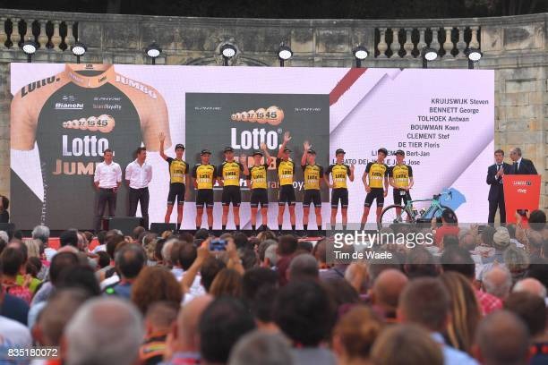 72nd Tour of Spain 2017 / Team Presentation Team Team LottoNLJumbo / Steven KRUIJSWIJK / George BENNETT / Antwan TOLHOEK / Koen BOUWMAN / Stef...