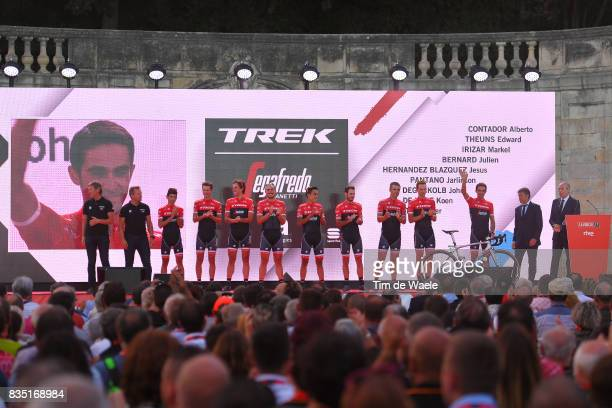 72nd Tour of Spain 2017 / Team Presentation Team Trek Segafredo / Alberto CONTADOR / Edward THEUNS / Markel IRIZAR / Julien BERNARD / HERNANDEZ Jesus...