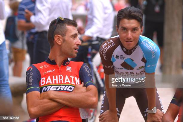 72nd Tour of Spain 2017 / Team Presentation Vincenzo NIBALI / Domenico POZZOVIVO / Team Presentation / Jardins de la Fontaine / Nimes / La Vuelta /