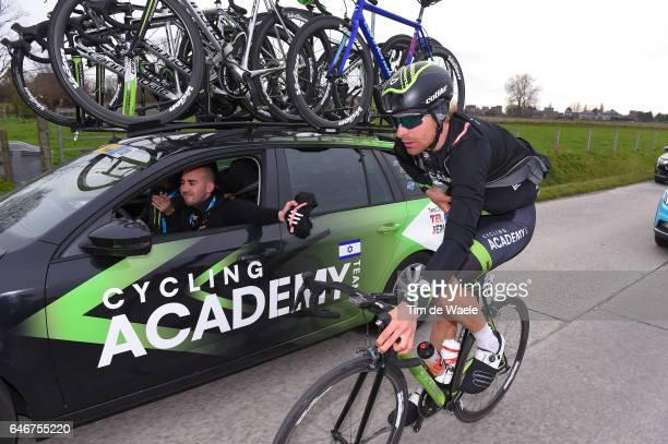 72th Omloop Het Nieuwsblad 2017 Dennis VAN WINDEN / Ran MARGALIOT Sportsdirector Team Manager Israel Cycling Academy / Gent Gent / Flanders Classics /