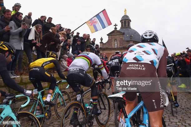 72th Omloop Het Nieuwsblad 2017 Peter Sagan / Team AG2R / Wall Muur Geraardsbergen / Kapellenberg / Landscape / Gent Gent / Flanders Classics /