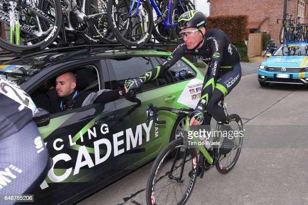 72th Omloop Het Nieuwsblad 2017 Zakkari DEMPSTER / Ran MARGALIOT Sportsdirector Team Manager Israel Cycling Academy / Gent Gent / Flanders Classics /