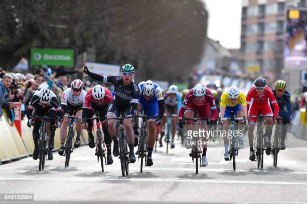 75th Paris Nice 2017 / Stage 3 Arrival / Sam BENNETT Celebration / Marcel KITTEL / Alexander KRISTOFF / John DEGENKOLB / Arnaud DEMARE Yellow Leader...