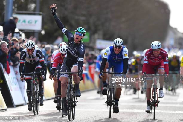 75th Paris Nice 2017 / Stage 3 Arrival / Sam BENNETT Celebration / Marcel KITTEL / Alexander KRISTOFF / Chablis ChalonsurSaone /