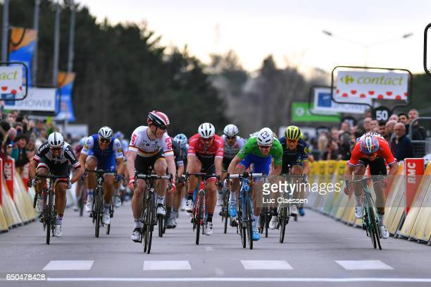 75th Paris Nice 2017 / Stage 5 Arrival / Michael MATHEWS / Marcel KITTEL / Andre GREIPEL / John DEGENKOLB / Arnaud DEMARE Green points jersey /...