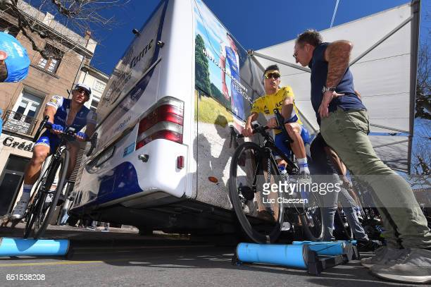 75th Paris Nice 2017 / Stage 6 Marcel KITTEL / Julian ALAPHILIPPE Yellow leaders jersey / Franck POTIER Mechanic / Aubagne Fayence /
