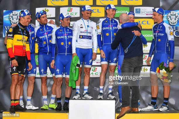 75th Paris Nice 2017 / Stage 8 Podium / Philippe GILBERT / Jack BAUER / Yves LAMPAERT / Julian ALAPHILIPPE White youth jersey / Daniel MARTIN / David...