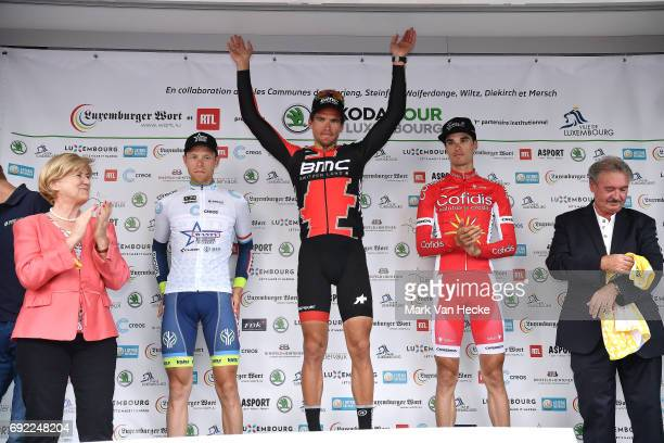 77th Tour of Luxembourg 2017 / Stage 4 Podium / Xandro MEURISSE White Best Young Jersey/ Greg VAN AVERMAET / Anthony PEREZ / Brice FEILLU Purple...
