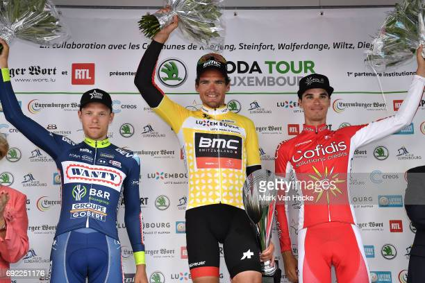 77th Tour of Luxembourg 2017 / Stage 4 Podium / Xandro MEURISSE / Greg VAN AVERMAET Yellow Leader Jersey / Anthony PEREZ / Brice FEILLU Purple...