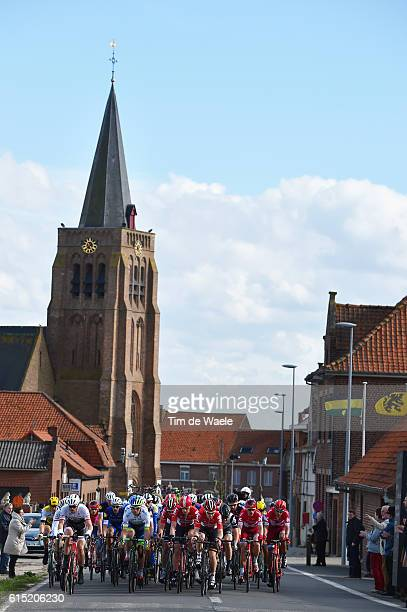 78th Gent Wevelgem 2016 Illustration Illustratie / Peleton Peloton / Heuvelland Church Eglise Kerk / Landscape Paysage Landschap / Gent Wevelgem /...