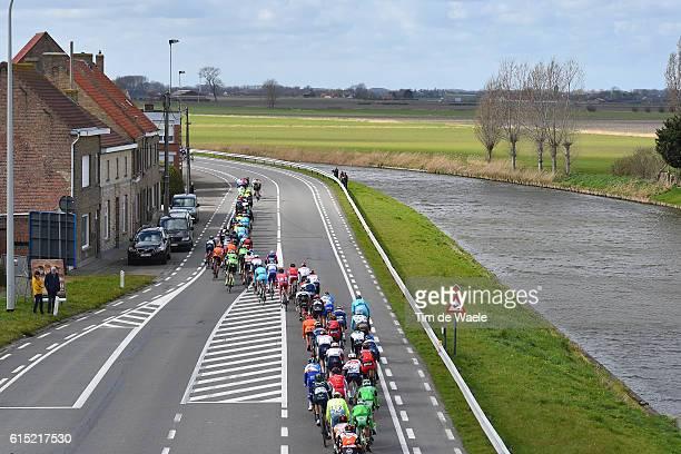 78th Gent Wevelgem 2016 Illustration Illustratie / Peleton Peloton / Landscape Paysage Landschap / Gent Wevelgem / Ghent Gand Flanders Classics / Tim...
