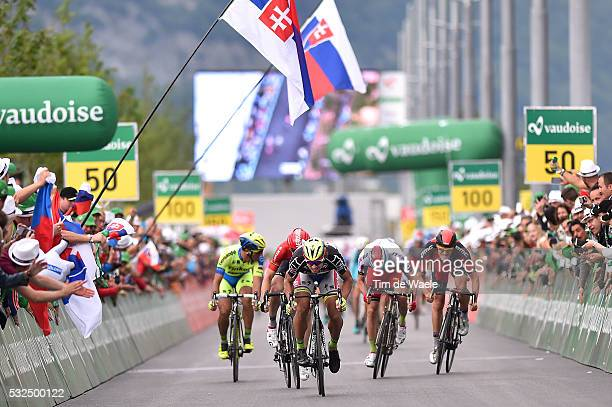79th Tour of Swiss 2015 / Stage 6 Arrival Sprint/ SAGAN Peter Black Jersey/ ROELANDTS Jurgen / KRISTOFF Alexander / DRUCKER Jean Pierre / BENNATI...