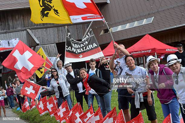79th Tour of Swiss 2015 / Stage 8 Illustration Illustratie / Public Publiek Spectators / Fans Supporters / Swiss Flag Drapeau Vlag / CANCELLARA...