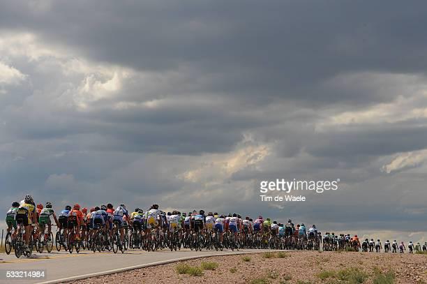 7th Tour de San Luis 2013 / Stage 2 Illustration Illustratie / Peleton Peloton / Clouds Nuages Wolken / Tilisarao Terrazas Del Portezuelo / Ronde...